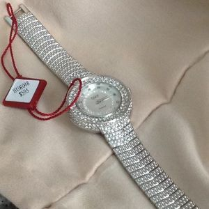 Burgi diamond face watch New with tags